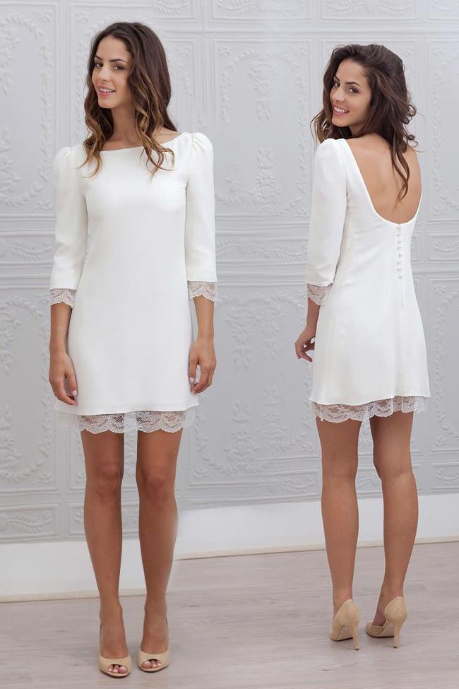66f002363f03 15 Vestidos blancos para tu boda por el civil en 2019 | vestido de ...