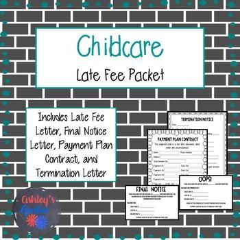 Childcare Late Fee Forms Pinterest Childcare, Daycare ideas and