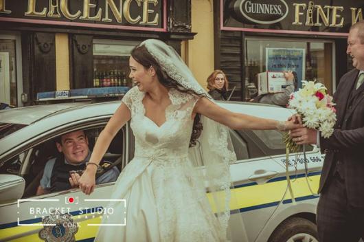 Irish bride handcuffed by Garda in wedding photos she will never forget