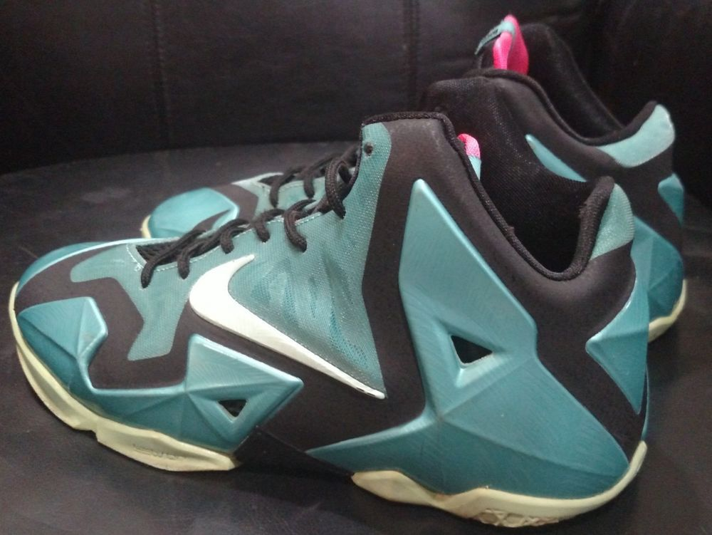 big sale b29fd e1fcb Nike Lebron 11 XI South Beach Black Pink Mint Sport Turquoise Size 6.5Y   fashion
