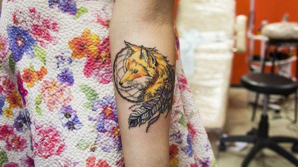 0734e2277 166 Dreamcatcher Tattoos for a Good Night Sleep | Dream Catcher ...