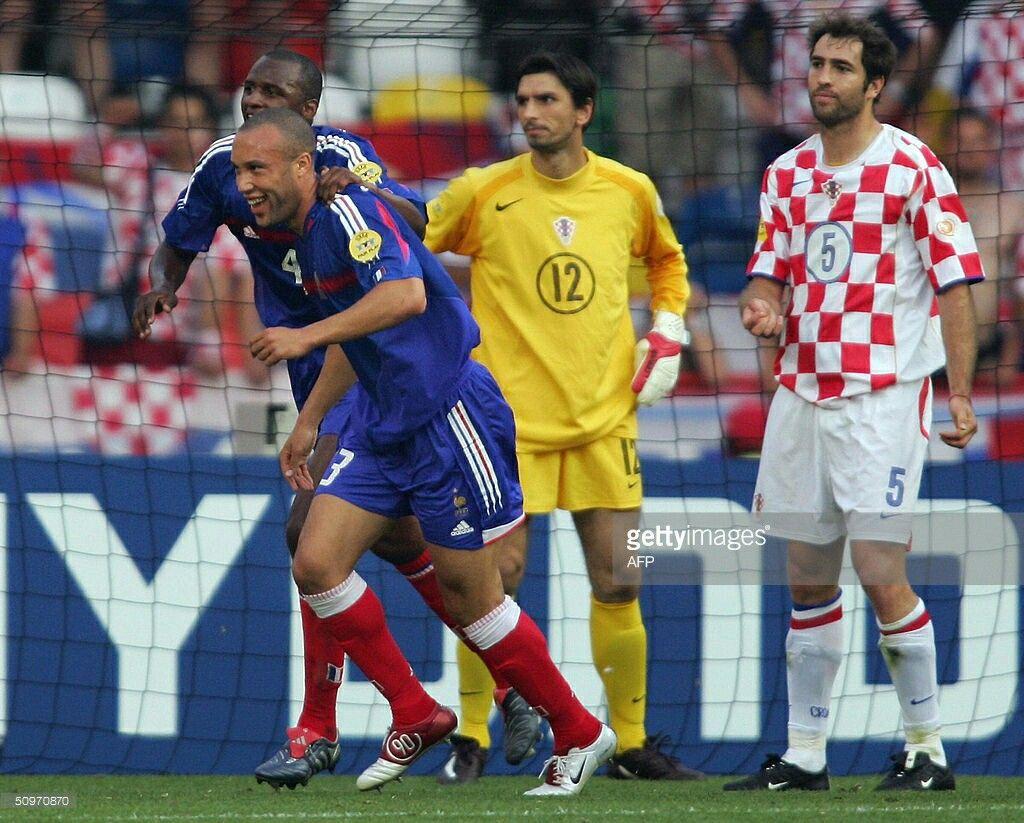 Croatia 2 France 2 in 2004 in Leiria. Igor Tudor is