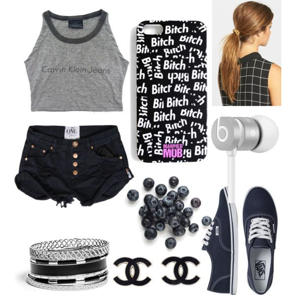 Untitled #237 by fashiongirlxcx on Polyvore featuring polyvore fashion style Vans GUESS Beats by Dr. Dre Ficcare