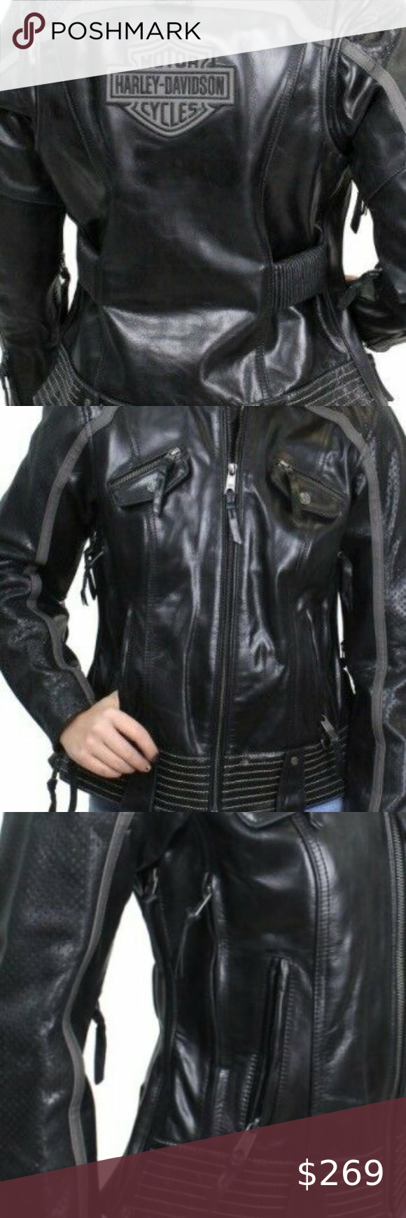 New Harley Davidson Leather Riding Jacket New With Tags Super Soft Leath Leather Motorcycle Jacket Women Leather Riding Jacket Harley Davidson Leather Jackets [ 1740 x 580 Pixel ]