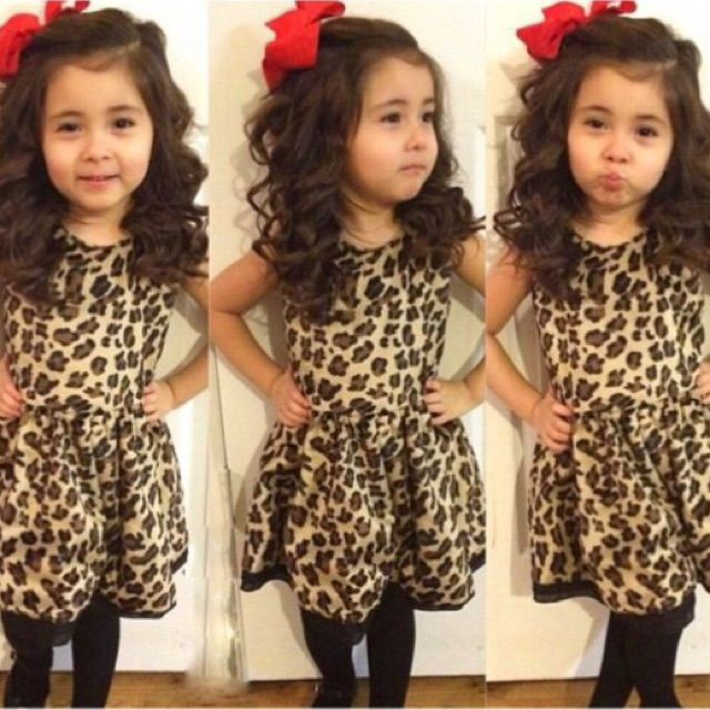 Check this item I am selling on Totspot, the resale shopping app for kids' clothes.   Leopard print dress animal spots cheetah black brown classic $30  Love this! #kidsfashion