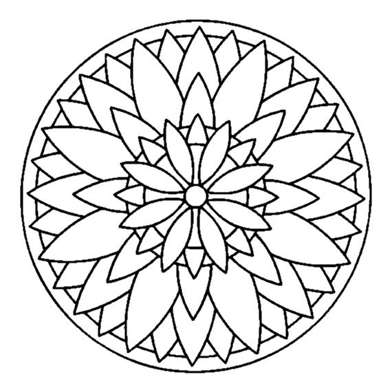 Art Therapy Mandala Coloring Mandala Coloring Pages Simple Mandala