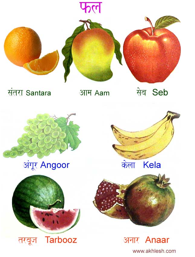 Fruit names in Hindi! Love the drawings! : Veggies ...