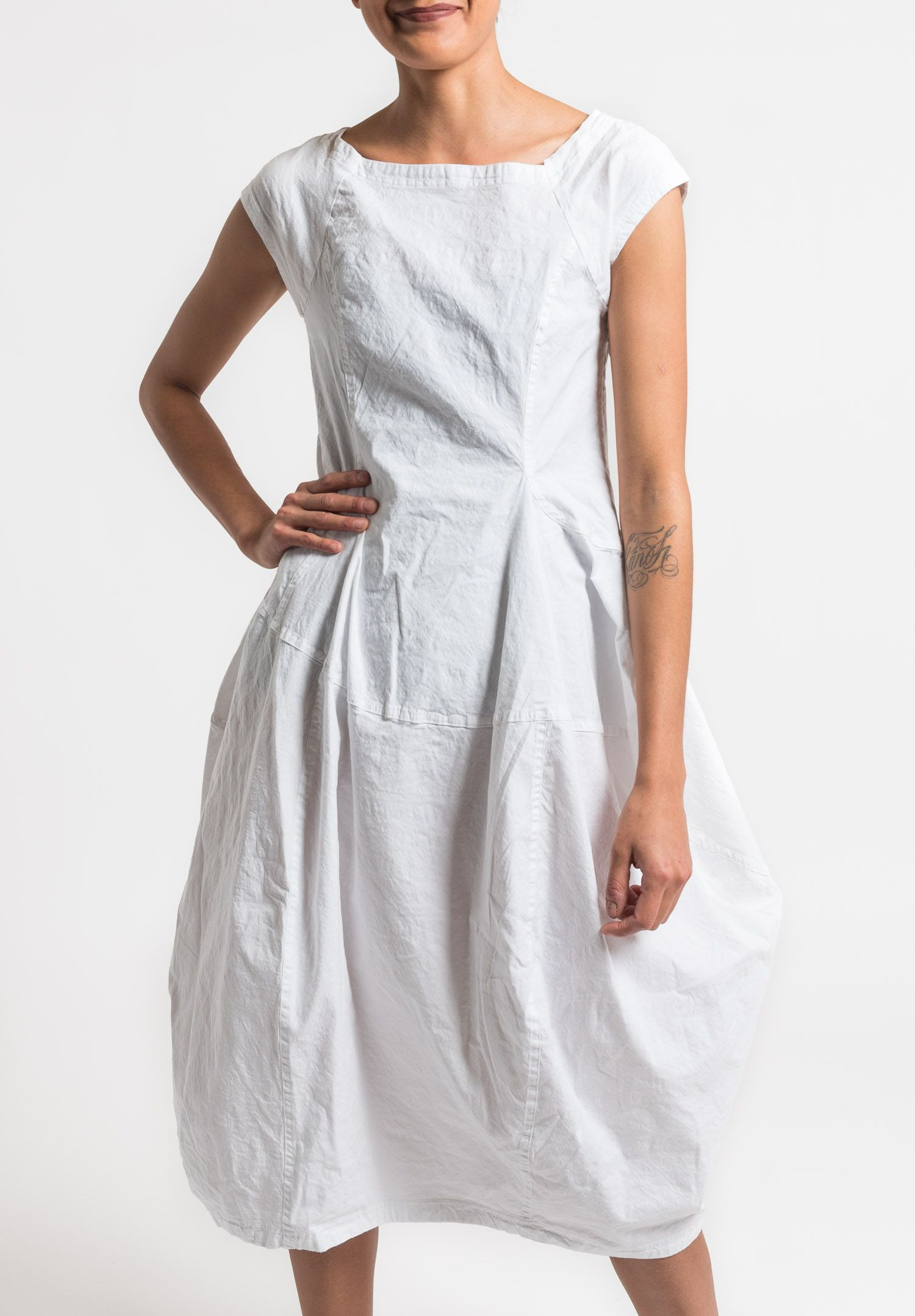 Rundholz Black Label Stretch Linen Tulip Dress In White Rundholz Black Label Clothes Tulip Dress [ 2156 x 1500 Pixel ]