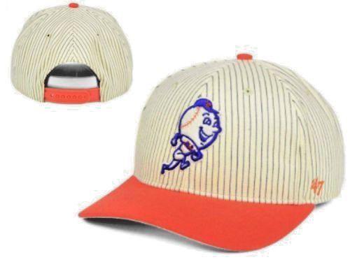 low priced 15e36 40cc4 ... spain new york mets mr met 47 brand mens snapback hat cap vintage  baseball logo new