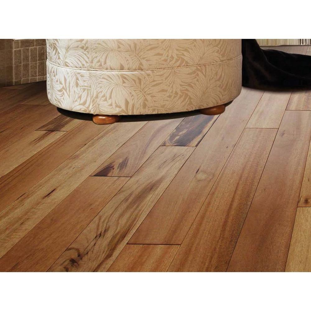 Natural Brazilian Tigerwood Locking Engineered Hardwood 1 2in X 4 3 4in 941860029 Floor And Decor