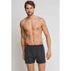 Photo of Boxer shorts jersey black / white checkered – Original Classics 6Schiesser.com