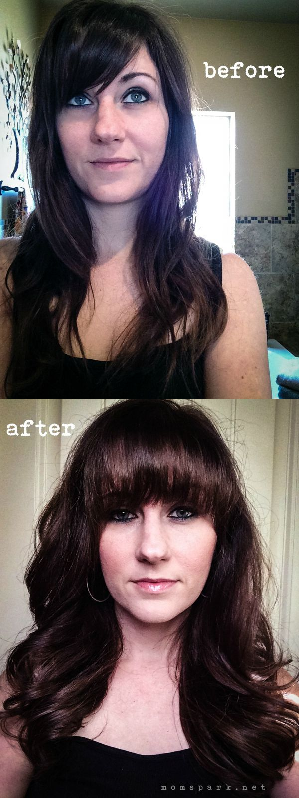 A before and after with Pantene AgeDefy products. #WantThatHair #ad