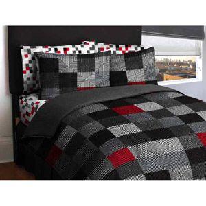 American Original Geo Blocks Bed In A Bag Bedding Comforter Set Twin Walmart Com Grey Bedding Beige Bedding Sets Bed In A Bag