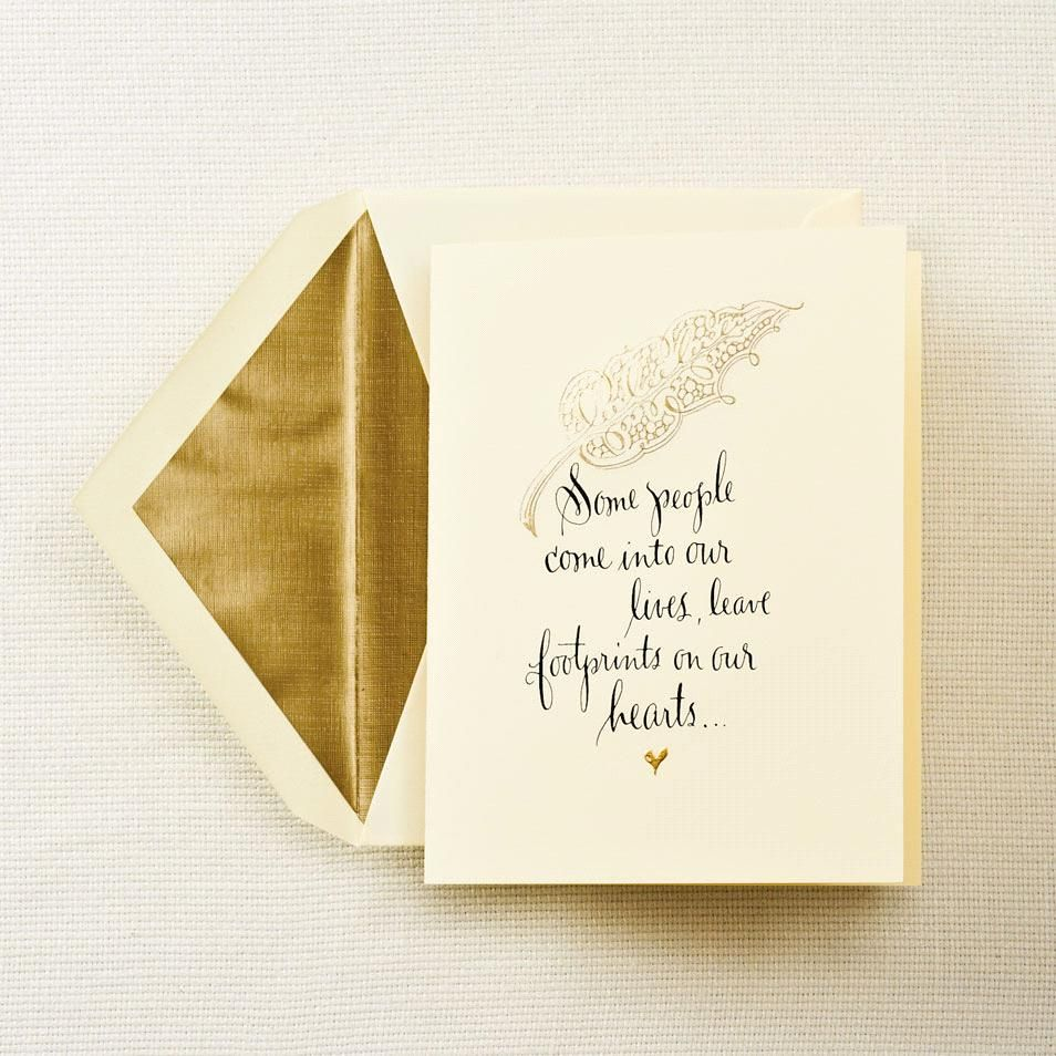 Hand Engraved Sympathy Quote Greeting Card Stationary And Cards
