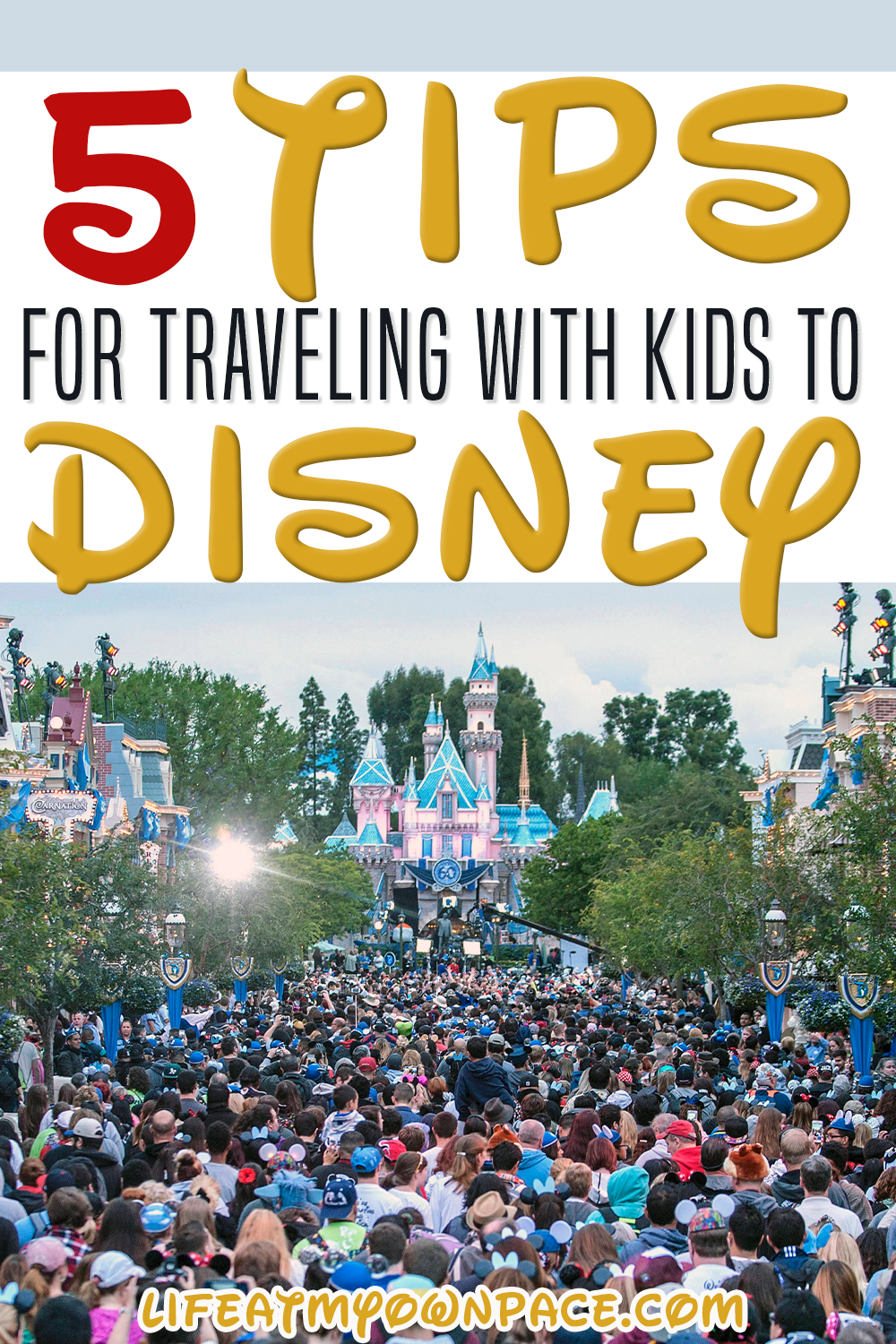 After years of visiting Disney use these 5 Tips we learned to implement and make your next trip to Disney the best one yet! Kids get grumpy and tired. The crowds are huge. They may not have a reaction we expect or want when seeing a character for the first time. The list goes on. | Life at My Own Pace @lifeatmyownpace #disneytips #disneyhacks #disneyvacation #disneykids #disneyfamilyvacation #disneysummervacation #disneytrip #lifeatmyownpace