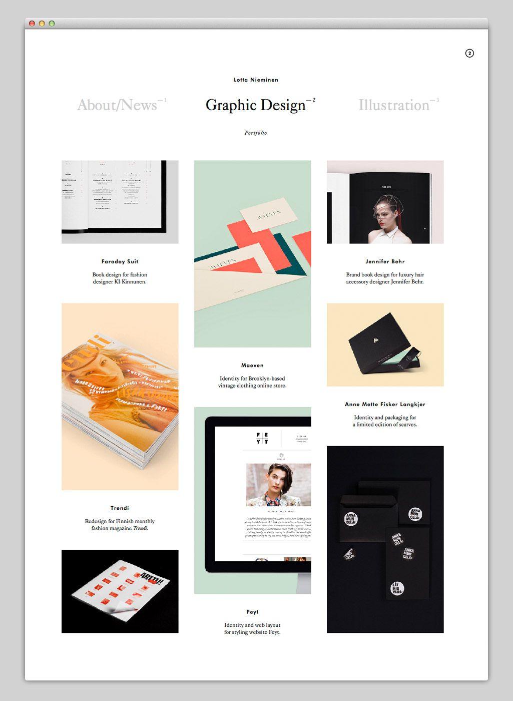 Lotta Nieminen Studio Thumbnails List Portfolio Web Design Beautiful Web Design Web Development Design