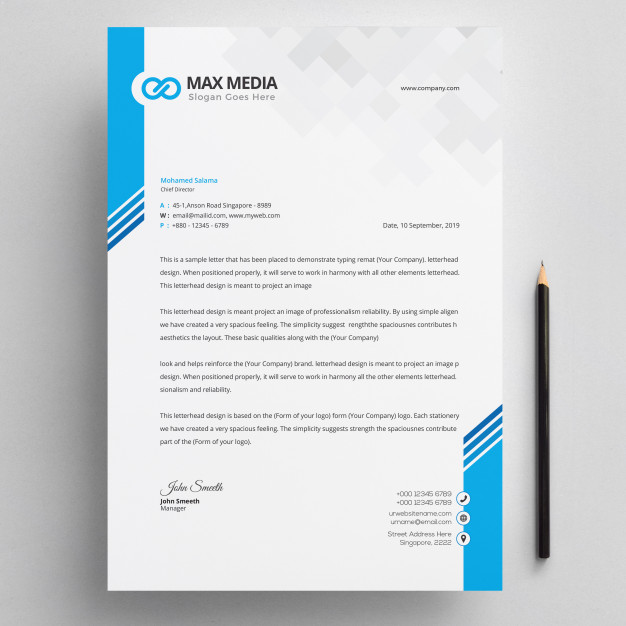 modern company letterhead resume template free download for fresh graduate first job teenager general labor objective
