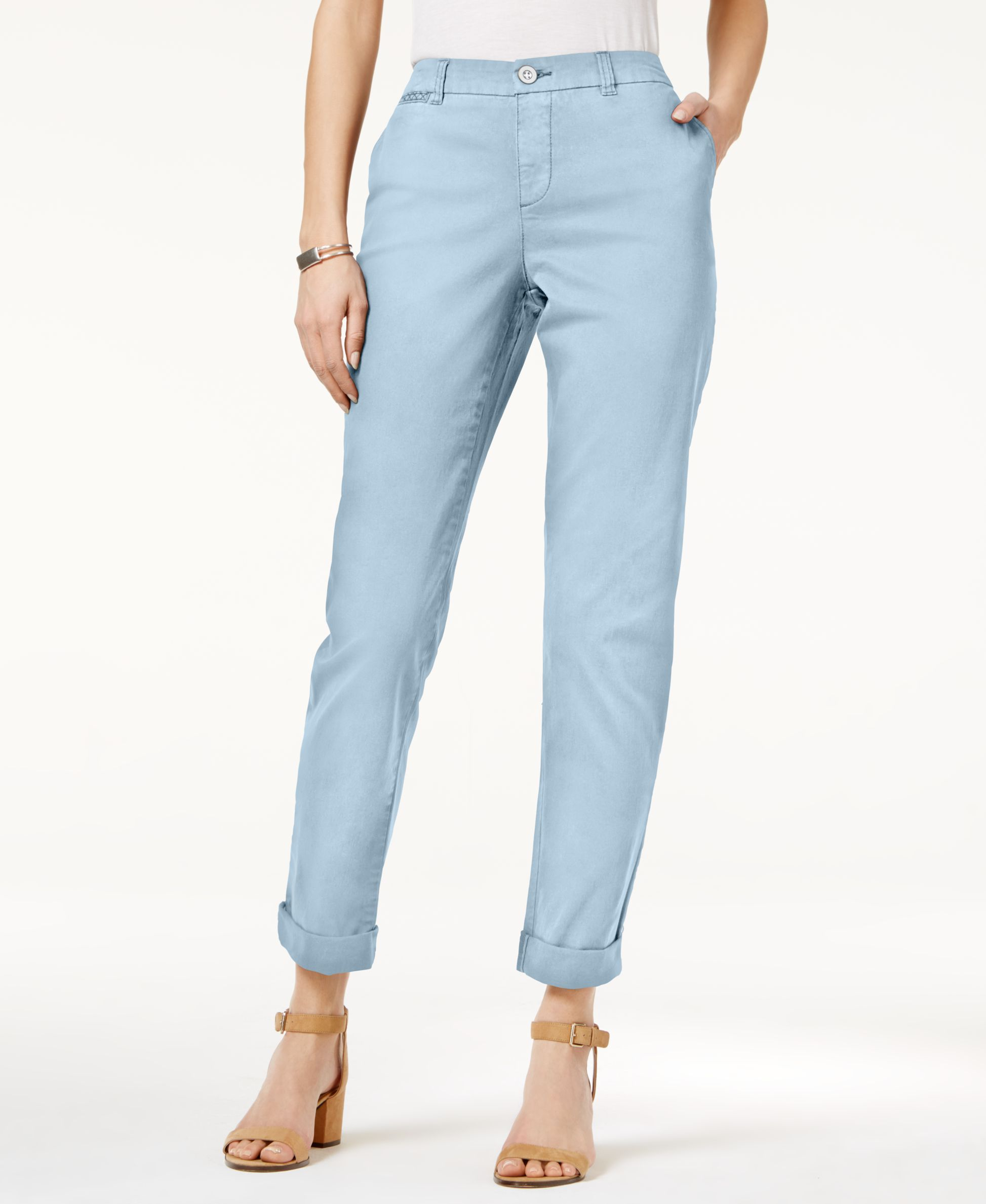 Style & Co. Chino Boyfriend Pants, Only at Macy's