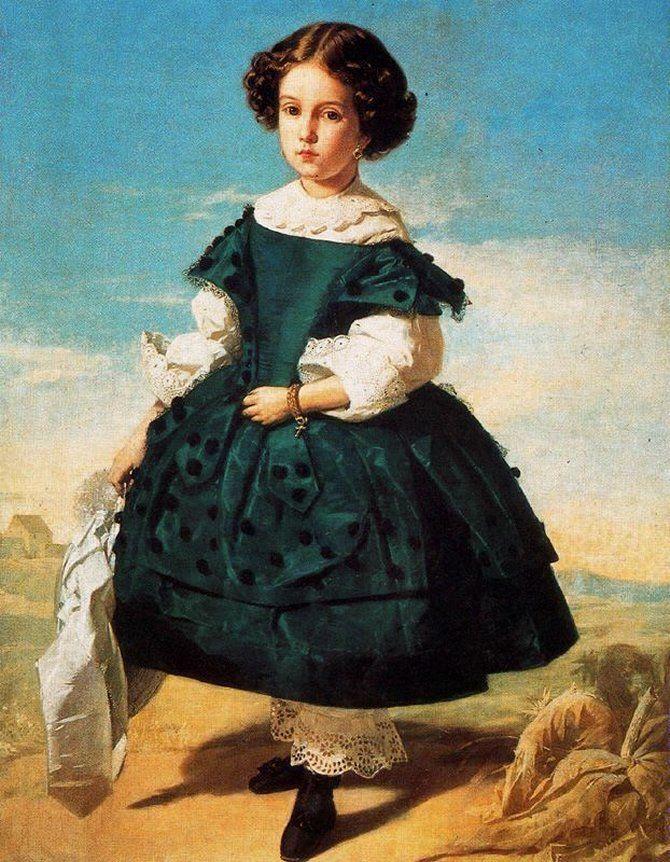 """""""Retrato de niña"""" by Valeriano Domínguez Bécquer, 1852 or 1859"""