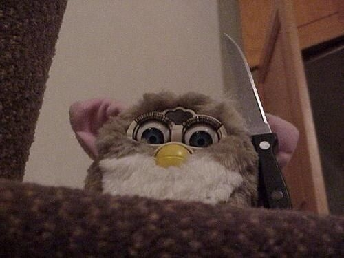 Image result for furby demon gif