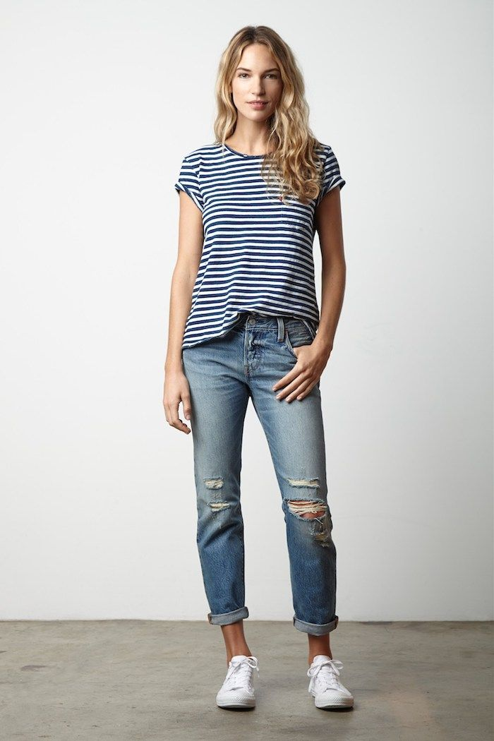 5e77b597a85 A little denim love … Levi's 501 customized & tapered jeans … wear them up-