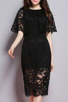 Lace Dresses For Women   Black And White Lace Dresses Fashion Style Online   ZAFUL