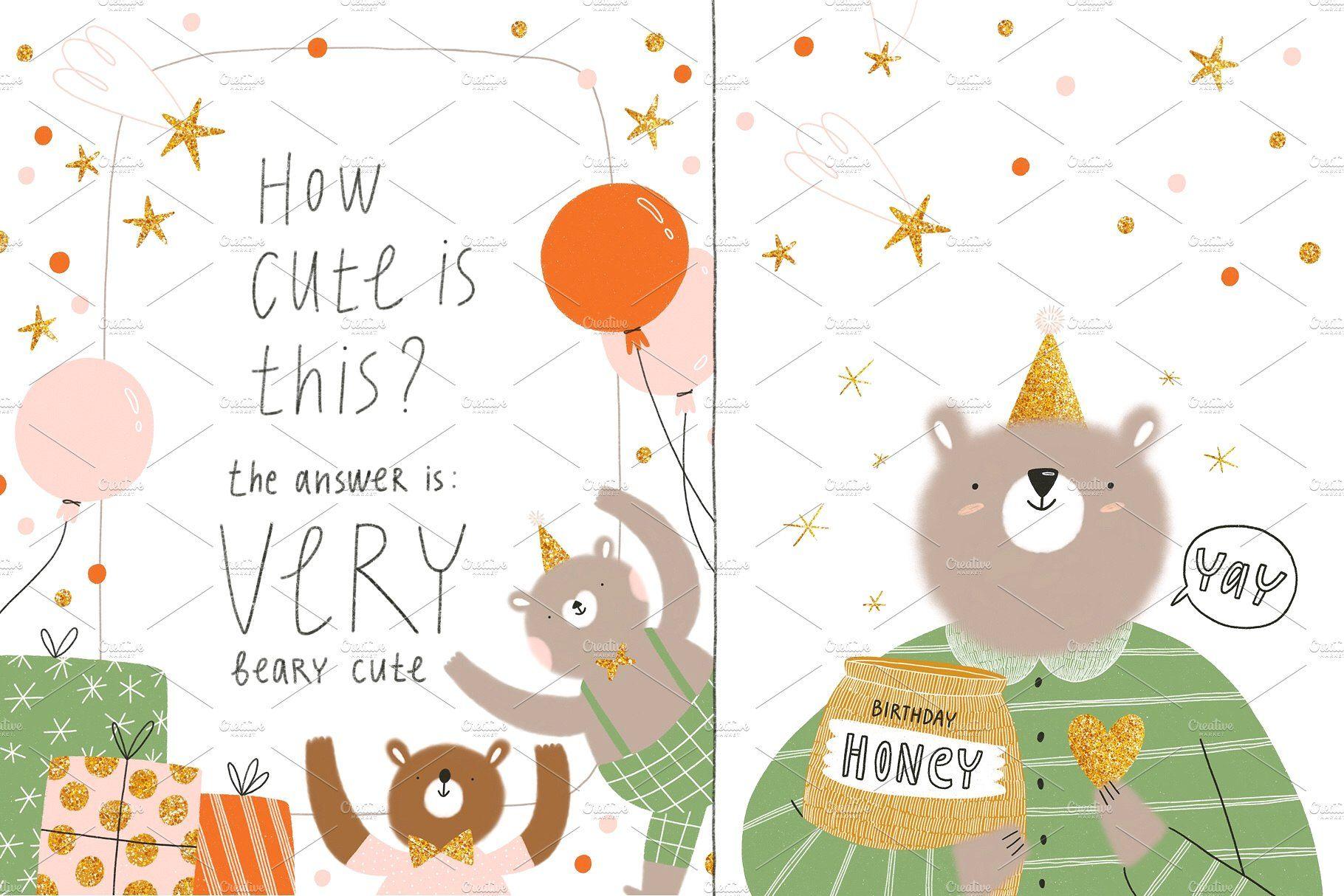 Beary Happy Birthday By Stolenpencil On Creativemarket Happy