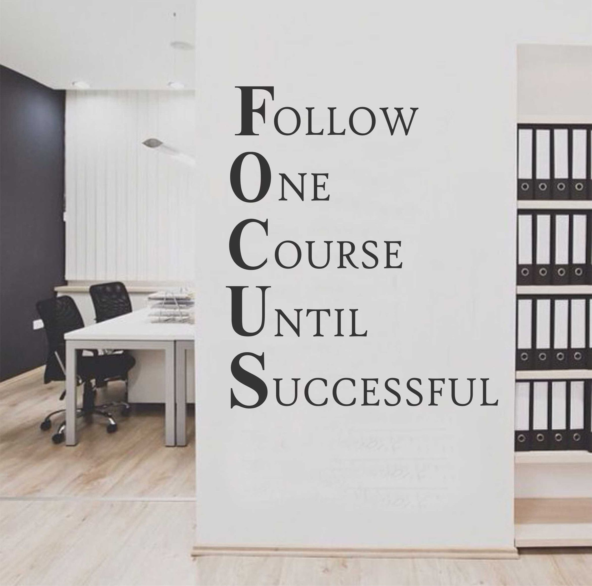 Inspirational Quotes Office Work: Focus Workplace Definition Quote