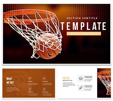 Basketball Hoop PowerPoint templates PowerPoint Templates - basketball powerpoint template