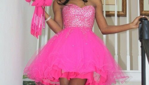 Neon Pink Prom Dress Prom Dresses Pinterest Neon Prom And
