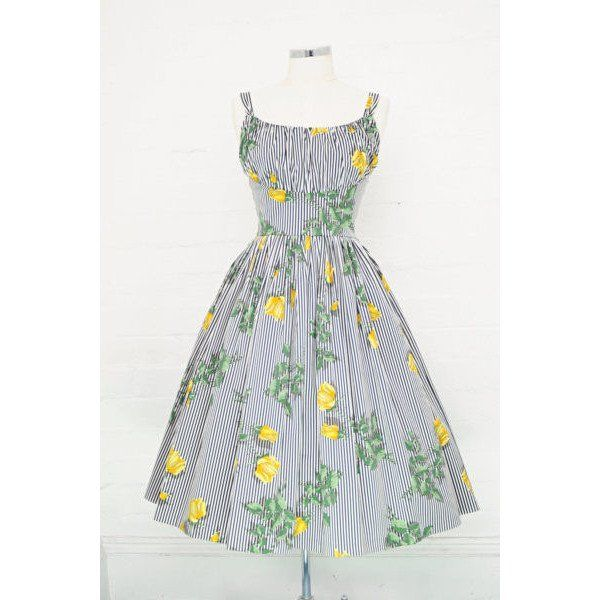 Be A Vision In Our Stunning Vintage Retro Norma Jean Texas Rose Swing Frocks Fabric