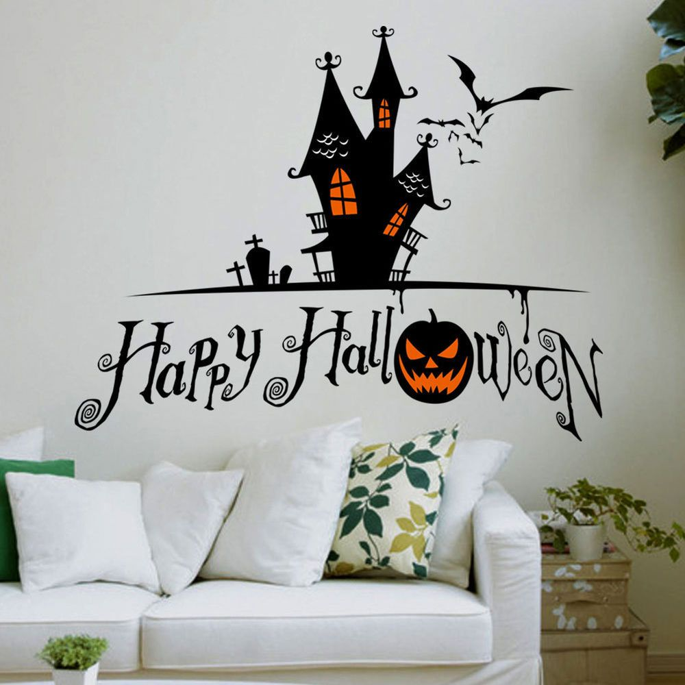 Happy Halloween Mural Vinyl Decal Wall Sticker Window Living Room Home