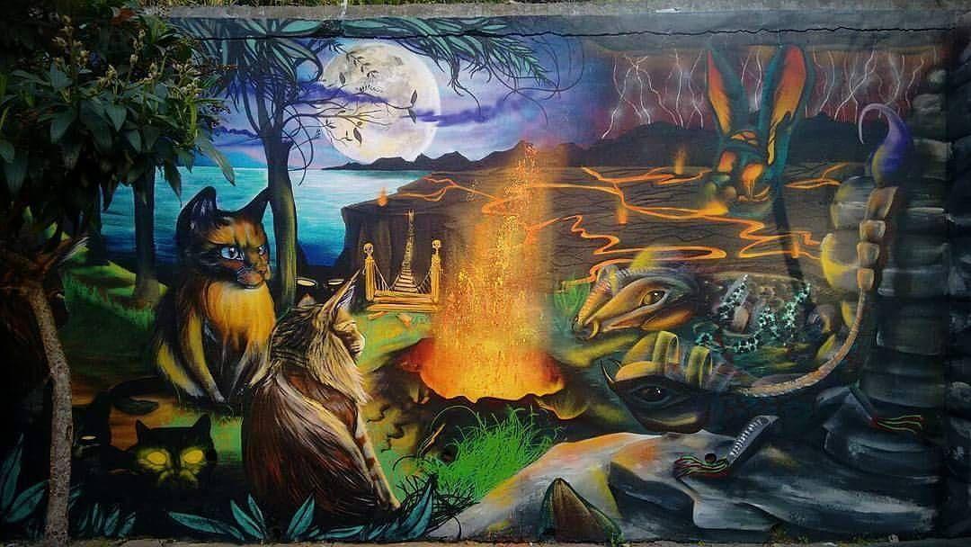 """207 curtidas, 3 comentários - Arte Sem Fronteiras (@artesemfronteiras) no Instagram: """"Artwork (mural) by Celso Campos and Fernando Berg Location : São Paulo / Brasil Facebook : Gatuno…"""""""