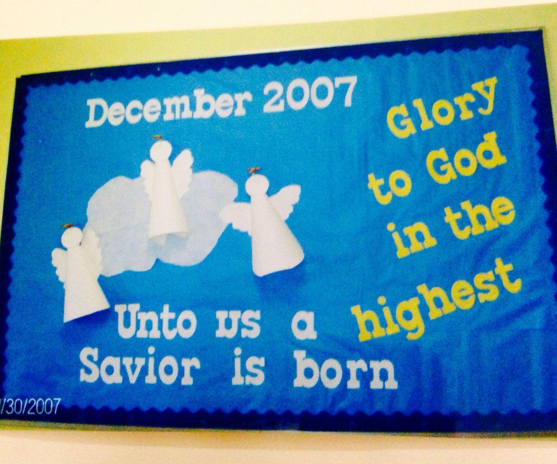 December 2007 christmas bulletin board