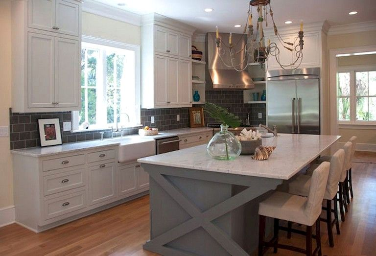 Fantastic Kitchen Island With Lower Table Attached For 2019 Farmhouse Kitchen Design Kitchen Island With Seating Kitchen Island With Sink