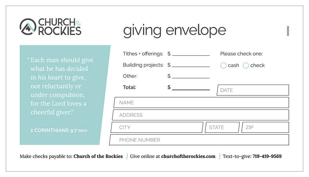 Custom Printed Offering Envelopes Myofferingenvelope Com