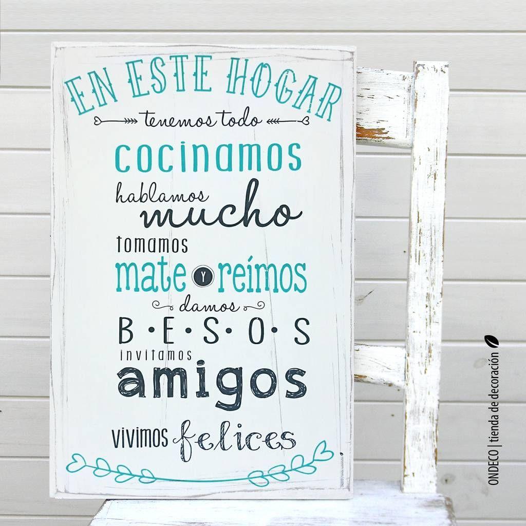 Cuadro Con Frase Receta De Nuestra Familia Cuadros Con Frases