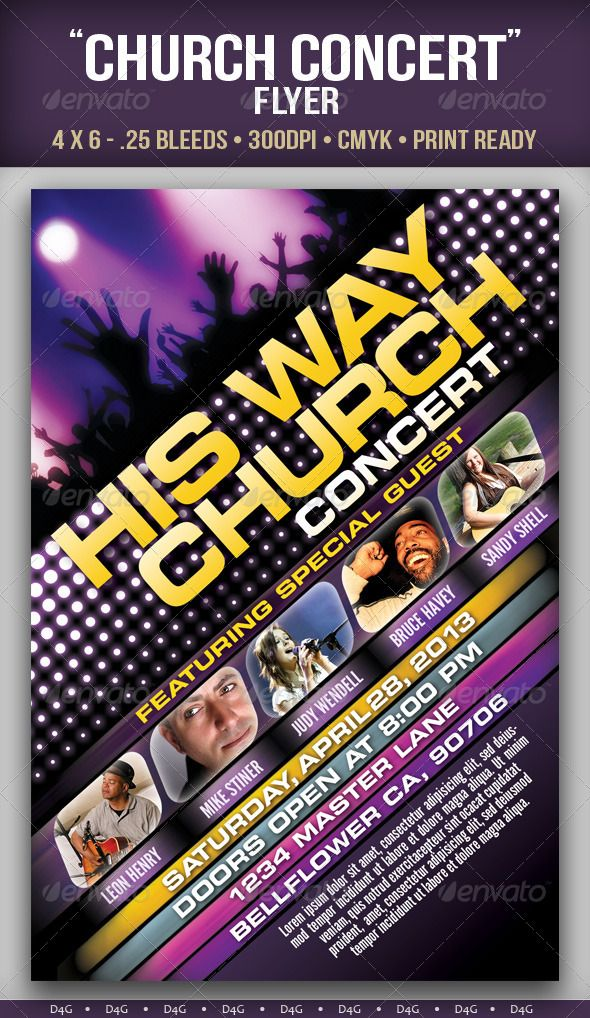 "Church Concert"" Flyer 
