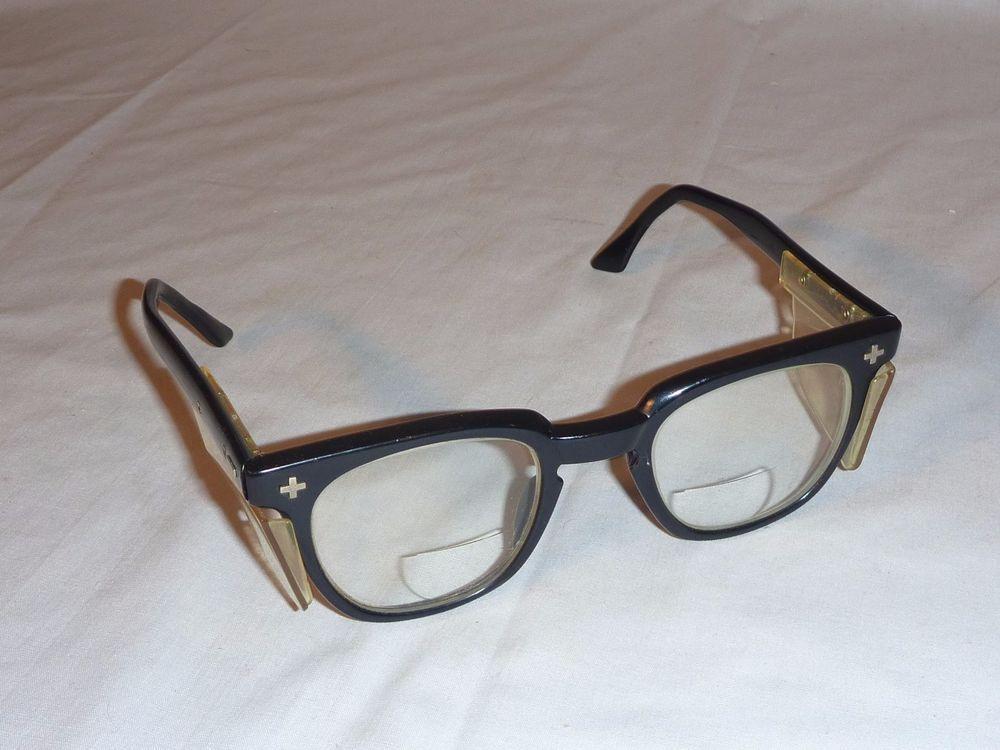 653a001f8b7da Details about Vintage Big ( 50-24) Bausch   Lomb Black Frame Glasses ...
