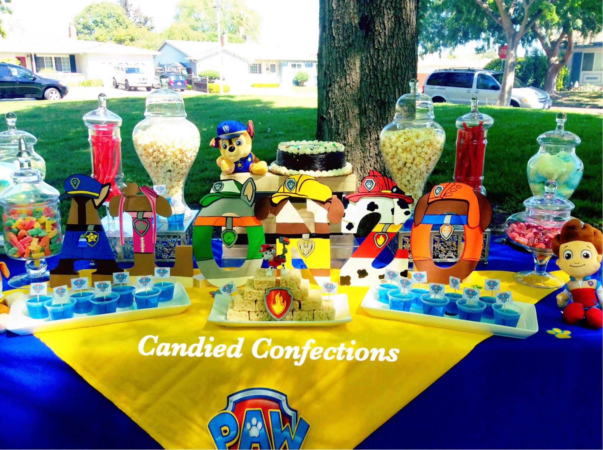 Paw Patrol Candy Buffet Paw Patrol Birthday Party Paw Birthday Paw Patrol Party