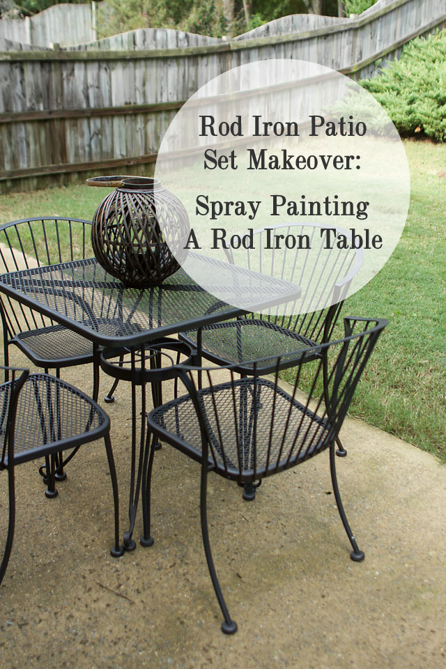 Redoing a Rod Iron Table Spray Painting a Rod Iron Table