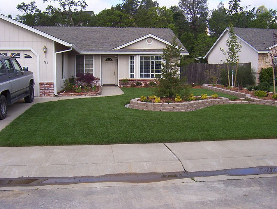 landscaping ideas narrow front