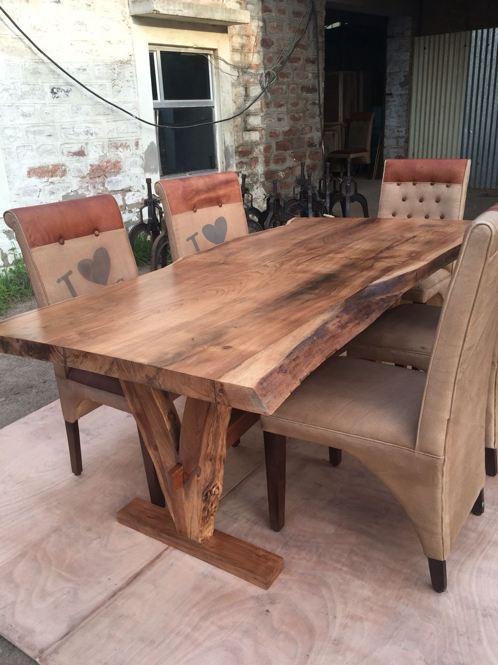 Yosemite live edge table acacia solid wood solid wood live edge dining tables pinterest - Kitchen table bases ...