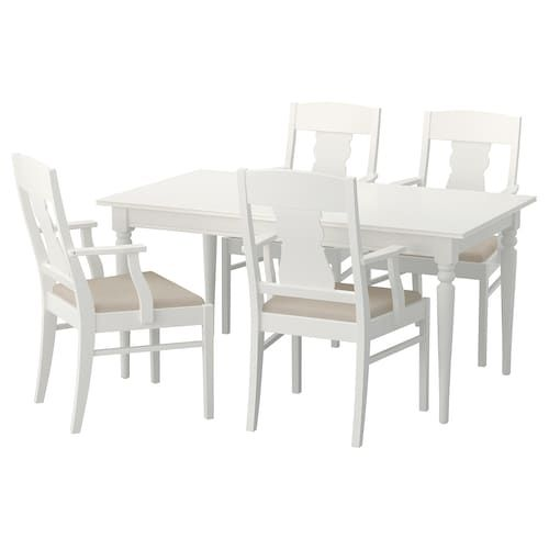 Ingatorp Ingolf Table And 4 Chairs White 61 Quot 155 Cm