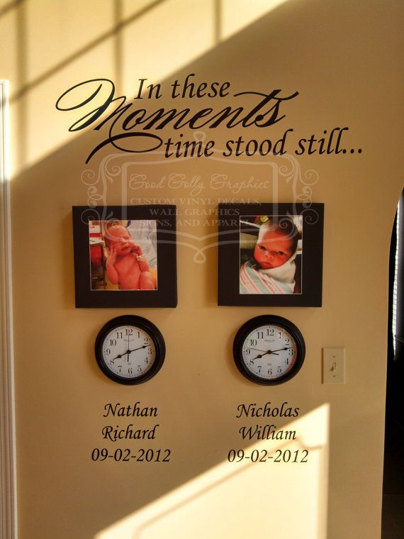 In these moments time stood still vinyl wall by GoodGollyGraphics