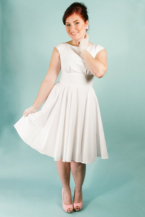 This size medium cotton modest boat neck dress features with cap ...