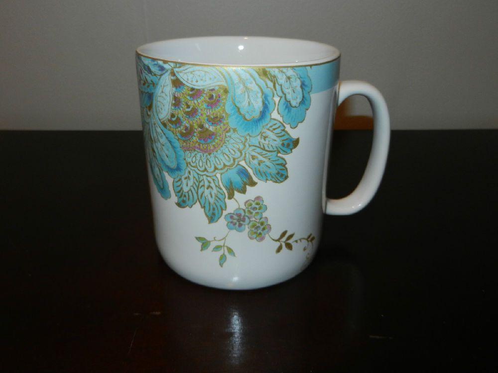 NEW 222 FIFTH ELIZA SPRING BLUE LARGE 24 OZ COFFEE MUG - FINE ...