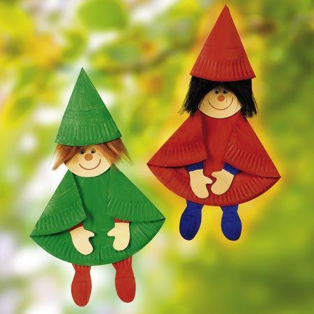 Lustiges aus Papptellern | basteln | Christmas crafts for ...