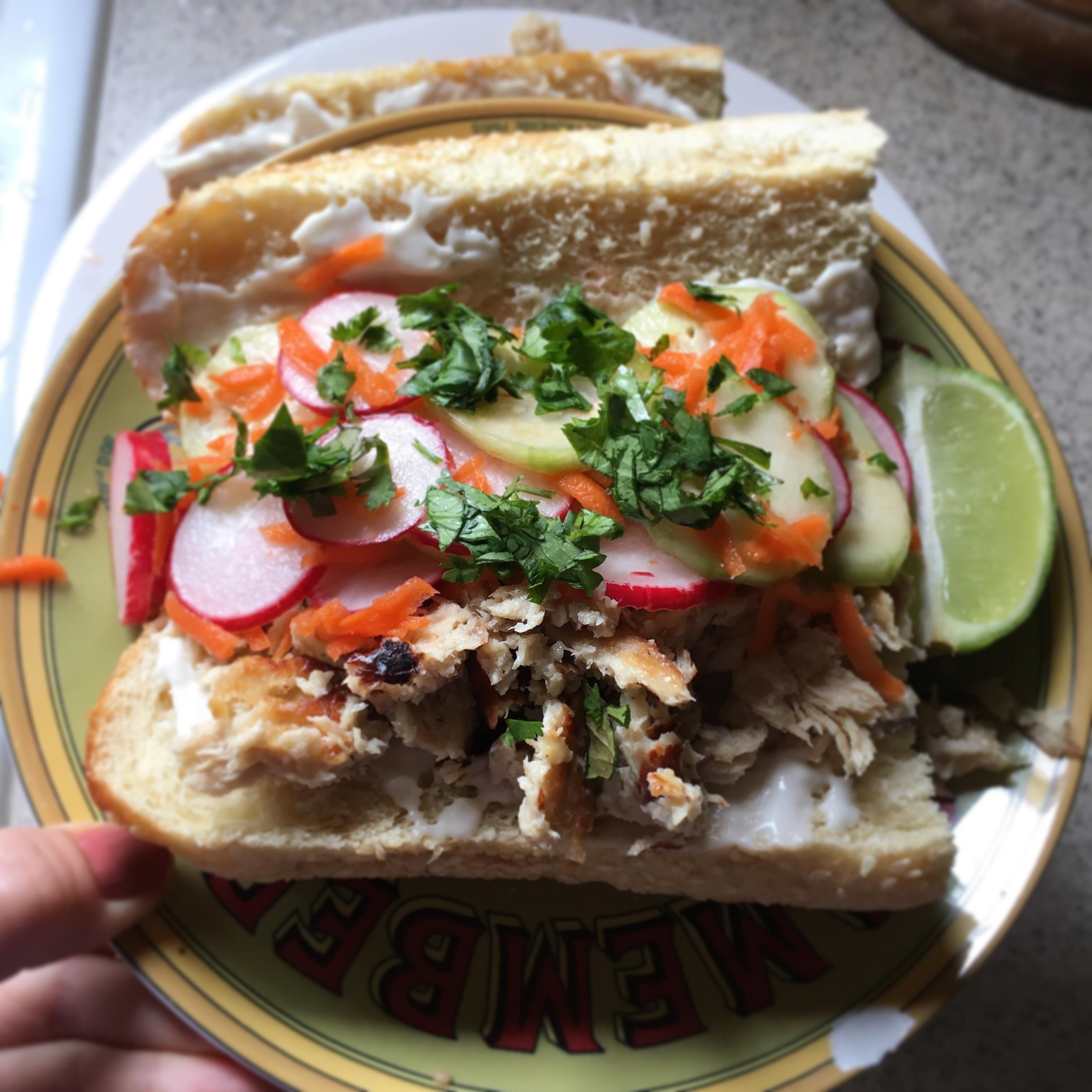 Cruelty free bahn mi vegan vegetarian glutenfree food