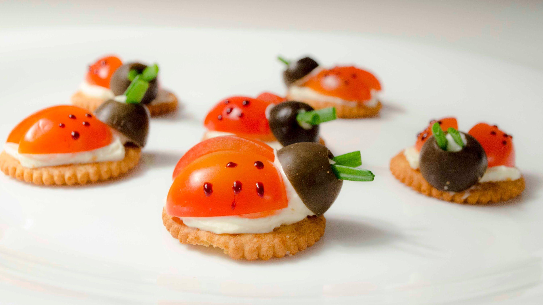 Mariquita Snack Receta Para Los Ni Os Ladybugs Para Navidad  ~ Recetas Faciles Para Cenar  Ninos
